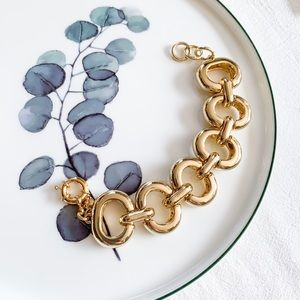J. Crew Goldtone Chain Bracelet